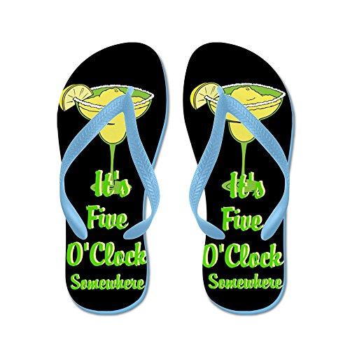 Cafepress Vijf Oclock Ergens - Beach Bum - Flip Flops, Grappige String Sandalen, Strand Sandalen Caribbean Blue