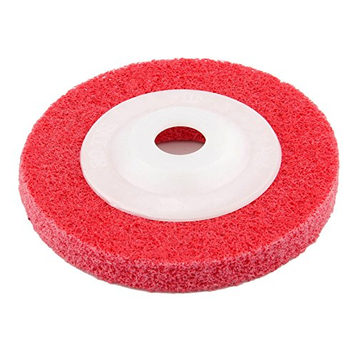 (Dophee 1Pc 100mm 320# Grit Fiber Polishing Wheel Buffing Pad Grinding Abrasive Disc For Rotary Tool)