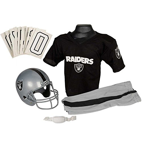 Raider Football Costume - Franklin Sports NFL Oakland Raiders Youth Licensed Deluxe Uniform Set, Large