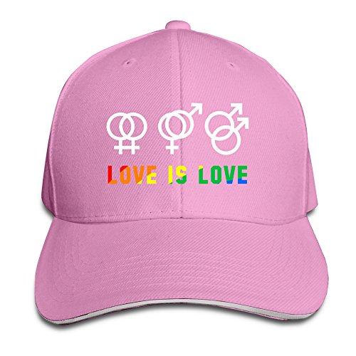 HIPPIE CAPS Amor es Amor símbolo Logotipo Orgullo Elegante Hiphop Pac Headwear