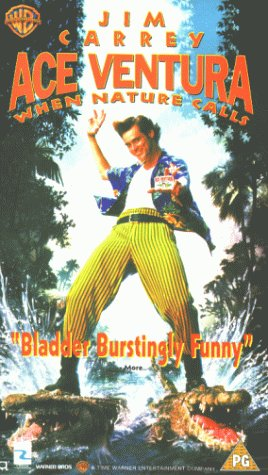 Ace Ventura 2 When Nature Calls Vhs Uk Import Jim Carrey Ian