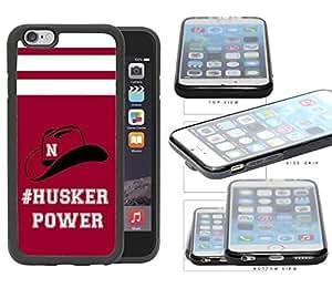 Hashtag Husker poder espíritu escolar lema Chant de goma TPU teléfono móvil funda iphone 6(4.7pulgadas)
