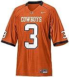 Nike Oklahoma State Cowboys #3 Youth Replica Football Jersey-Orange (X-Large)