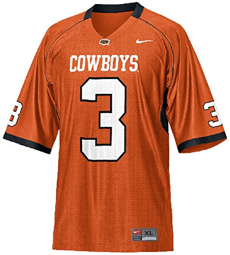 Oklahoma State Cowboys Replica Football Jersey (Oklahoma State #3 Youth Orange Nike Replica Football Jersey (Medium))