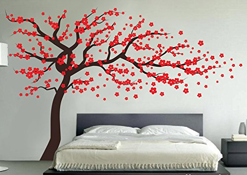 Top recommendation for cherry blossom wall decal red