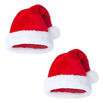 2ab397b9fcc86 Image Unavailable. Image not available for. Color  Christmas Hat Velvet  Santa ...