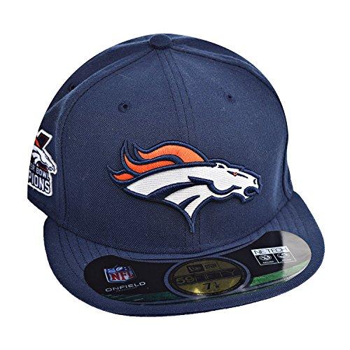 New Era NFL16 5950 Denver Broncos GM 3X Superbowl Champions In Navy SZ 7 1/2 - Exclusive Super Bowl