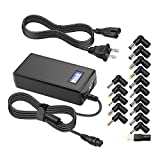 Powseed 65W Universal Laptop Charger AC Adapter Replacement for HP DELL Lenovo Toshiba IBM Acer Asus Gateway Samsung Sony Notebooks 15V 16V 18.5V 19V 19.5V 20V Power Supply Cord with 5V2A USB