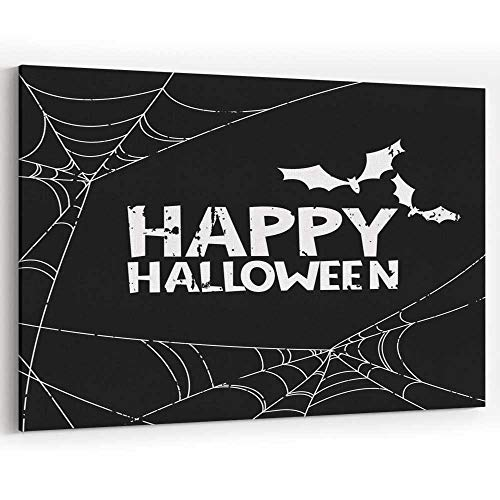 Happy Halloween Vector Banner Canvas Art Wall Dector for Home Decor Stretched-Framed Ready to Hang -