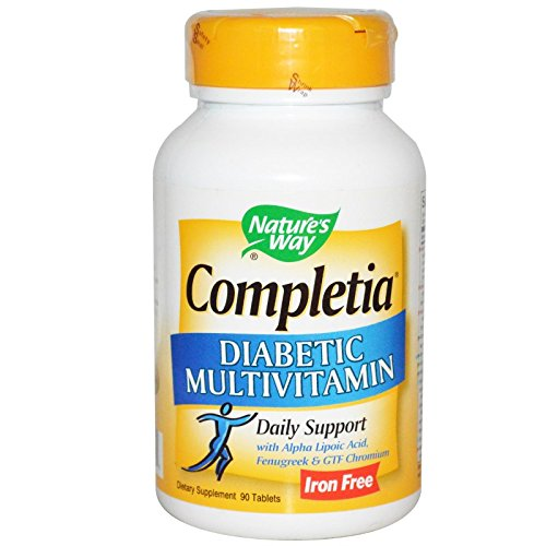 Diabetic Multivitamin - Nature's Way - Completia Diabetic Multivitamin, 90 tablets