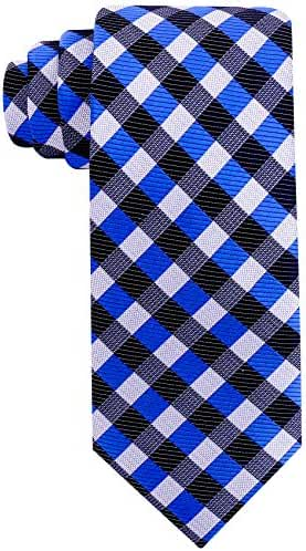 Scott Allan Mens Gingham Plaid Necktie
