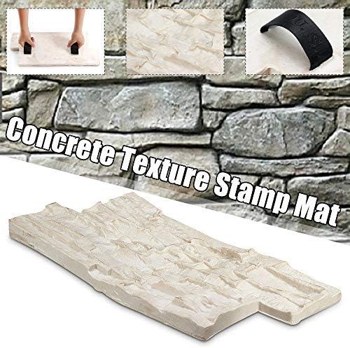 ウォークメーカー スレートシームレスなテクスチャポリウレタンスタンプマットコンクリートセメントストーンウォールマットセメントブリックモールド (色 : 白, サイズ : ワンサイズ)