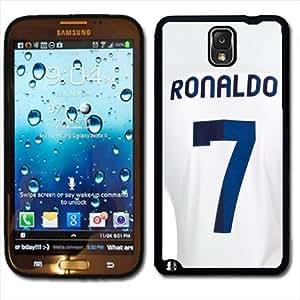 Samsung Galaxy Note 3 Black Rubber Silicone Case - Christiano Ronaldo Barcelona Soccer Futbol Futsal Jersey
