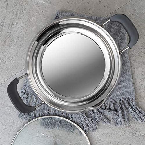 MKXF Plat en Acier Inoxydable de première qualité en Acier Inoxydable avec Couvercle en Verre et Finition Miroir Poli