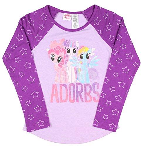My Little Pony Adorbs Little Girl's Raglan T-Shirt (Large 10/12)