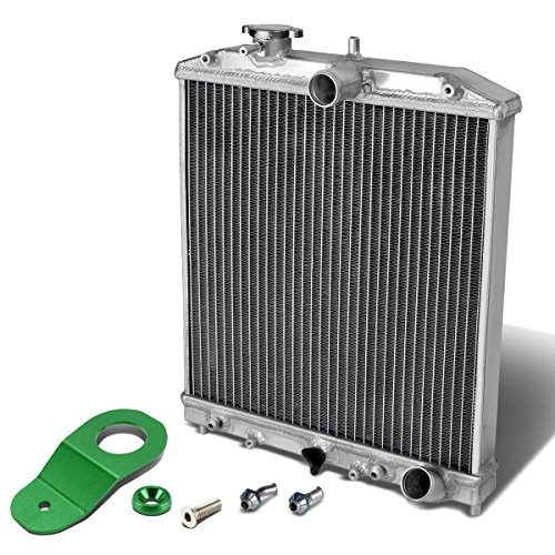 For Honda Civic EK AT (Auto Transmission) 2-Row Dual Core Aluminum Radiator w/Stay Mount Bracket (Green) (Aluminum Core Radiator Dual)