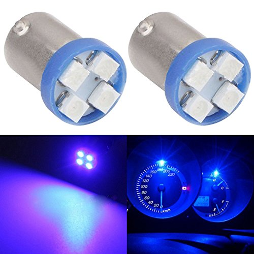 TABEN 2pcs BA9S Super Bright 8000K Blue 1210-4SMD LED Lights Bulbs BA9 53 57 1895 64111 Side Door Courtesy Lights Map Dome Lights ()