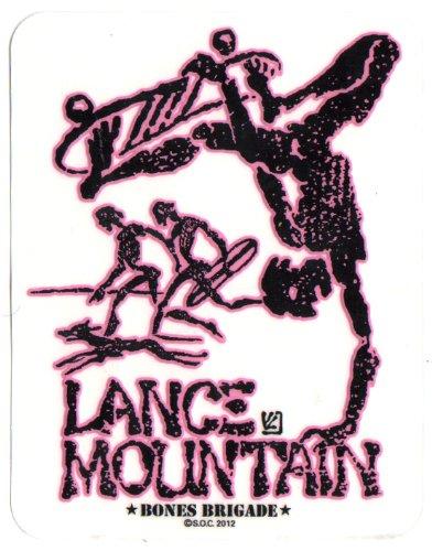 Powell Peralta Skateboard Sticker - Lance Mountain Pink Bones Brigade Official Reissue