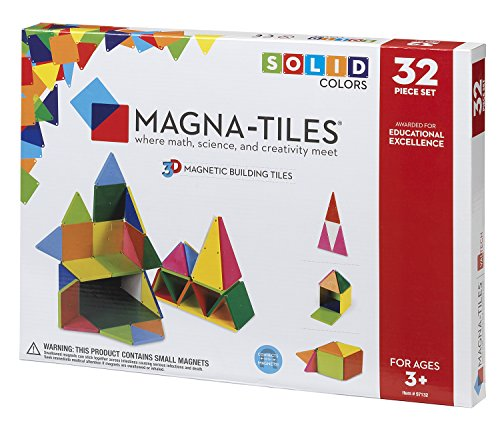Magna-Tiles 97132 Solid Colors 32 Piece Set by Valtech since (Magna Cube)