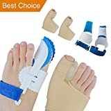 Sumifun Bunion Corrector, Adjustable Bunion Night Splint, Protector Sleeves kit for Big Toe Strap Bunion Bootie Provides Great Protection and Treatment for Bunion Pain (Style 2)