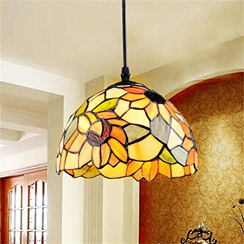 Royal-European Tiffany Pastoral Creative LED Bedroom Chandelier