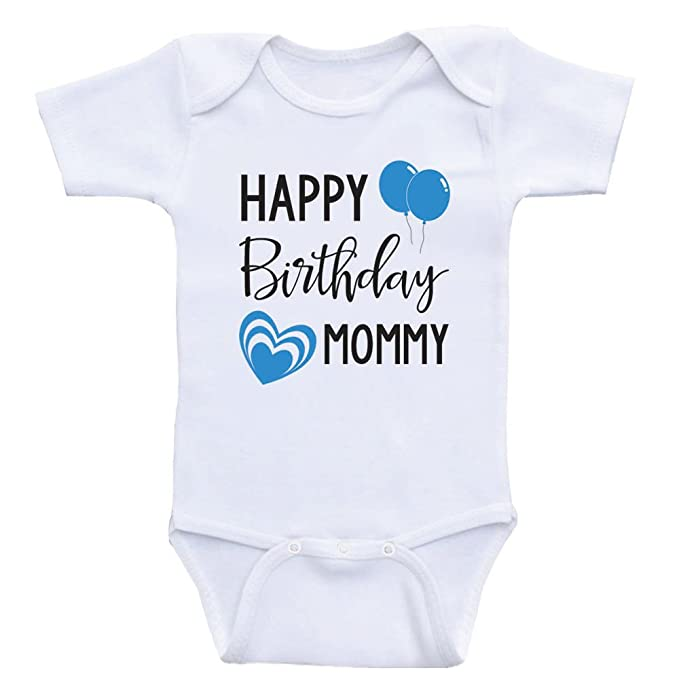 Heart Co Designs Birthday Clothes For Babies Happy Mommy Moms Baby Onesie 3mo