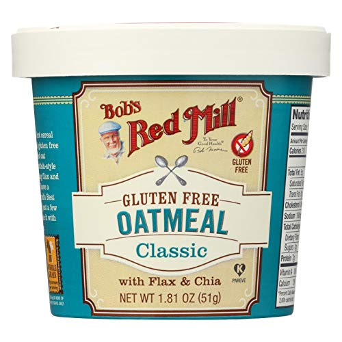 - Bobs Red Mill Classic Oatmeal Cup, 1.81 Ounce - 12 per case.