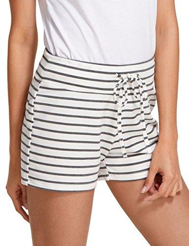(SweatyRocks Camouflage Women's Workout Yoga Hot Shorts Stripe M)