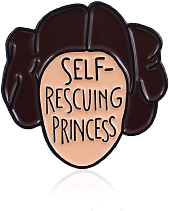 Self Rescuing Princess Leia Pin Star Wars Brooch Girl Power Feminist Gift Ideas