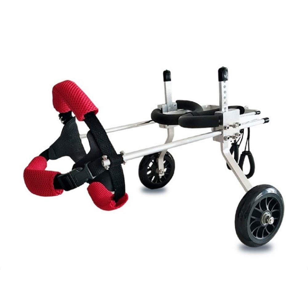 A S A S LXF Pet travel stroller Dog wheelchair dog scooter hind limb disabled wheelchair pet rehabilitation training car Easy folding with removable pad, storage basket (color   A, Size   S)