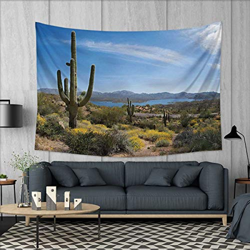 Anhuthree Saguaro Tapestry Wall Tapestry Big Cactus on The V