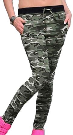 dahuo - Pantalones de chándal para Mujer (elásticos, Suaves ...