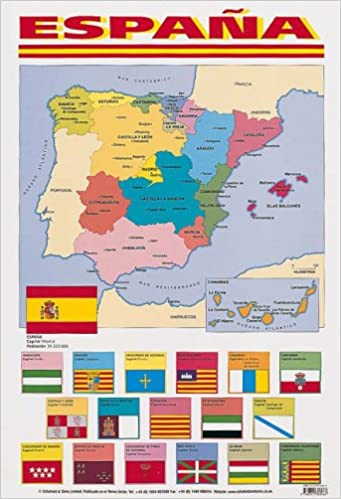 spanish poster map of spain spanish posters amazoncouk 9780721708966 books