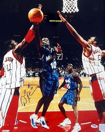 Adonal Foyle Signed 16 x 20 Photograph Orlando Magic - Certified Genuine Autograph By PSA/DNA - Autographed Photo
