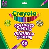 Crayola 60 Coloured Pencils, Adult Colouring, Bullet Journaling, School and Craft Supplies, Drawing Gift for Boys and Girls, Kids, Teens Ages  5, 6,7, 8 and Up, Holiday Gifting, Stocking Stuffers, Arts and Crafts
