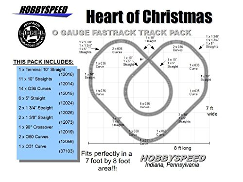 FASTRACK HEART OF CHRISTMAS TRACK LAYOUT pack 7'X8