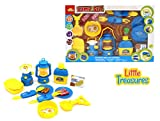 kids camp stove - Camping play set from Little Treasures 15 pcs kit - Includes a light-up camp stove, lantern with light, 2 utensil sets, a water bottle with cup, a toy camping shovel and much more.