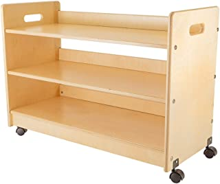 product image for Little Colorado Toy Organizer with Casters, Natural Birch, Beige