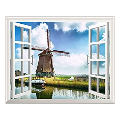 Removable Wall Sticker Wall Mural Windmill Under Blue...