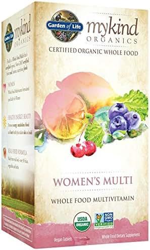 Garden of Life Multivitamin for Women - mykind Organic Women Whole Food Vitamin Supplement, Vegan, 120 Tablets
