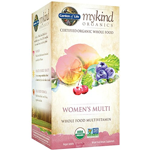 Garden of Life Multivitamin for Women - mykind Organic Women Whole Food Vitamin Supplement, Vegan, 60 Tablets