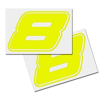 Nummer Aufkleber Zahlen Aufkleber Startnummer Mülltonnen Aufkleber 2er Set Gelb 8