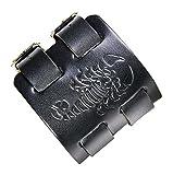 Fusamk Hip Hop Alloy Scorpion Adjustable Leather Bracelet Bangle,7.0-8.0inches