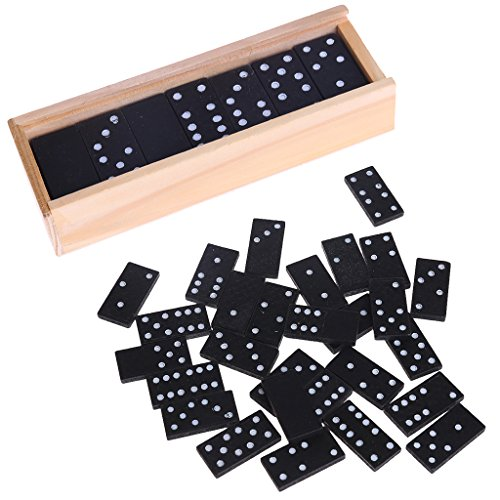 ea-stone木製Dominoボックスおもちゃゲームセット、ファミリゲーム旅行おもちゃ子供大人