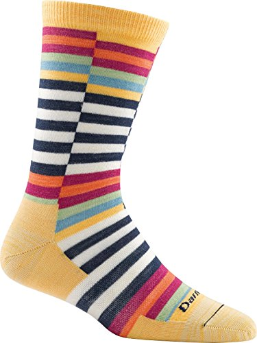 Darn Tough Offset Stripe Light Sock - Women's Marigold Large
