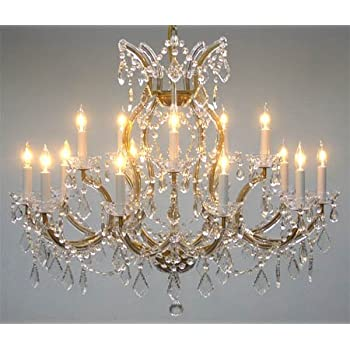 Swarovski crystal trimmed maria theresa chandelier crystal swarovski crystal trimmed maria theresa chandelier crystal lighting chandeliers lights fixture pendant ceiling lamp for dining aloadofball Choice Image