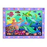 Melissa & Doug Peel and Press Sticker by Number Kit: Mermaid Reef - 60+ Stickers, Jumbo Frame