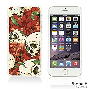 Skull Pattern Hardback Case Cover For Ipod Touch 5 Smartphone - Skull With Red Rose