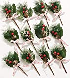 12 Pcs Packs Artificial Pine Picks Christmas