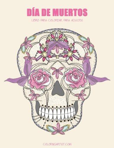 Día de Muertos libro para colorear para adultos